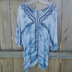 Free People ▪ Tie Dye Oversized Dolman Top
